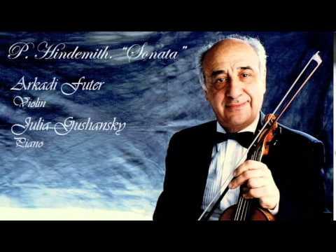 P. Hindemith. Sonata.  Arkady Futer, Violin.  Julia Gushansky, Piano.