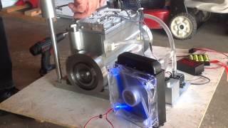 Model gas 4 cylinder homemade engine