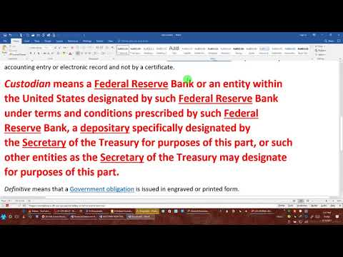 THE PROPER WAY TO ACCESS YOUR FEDERAL RESERVE AND TREASURY DIRECT ACCOUNT, REALLY!!! By EEON 2017 09