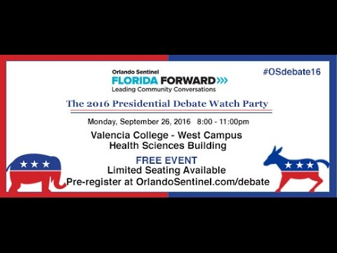 LIVE: Presidential Debate Watch Party - Orlando Sentinel/Valencia College