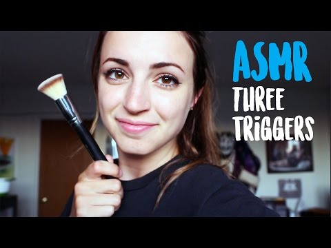 ASMR - 3 Triggers for You! (Brushing, Hand Movement, Sea Glass)
