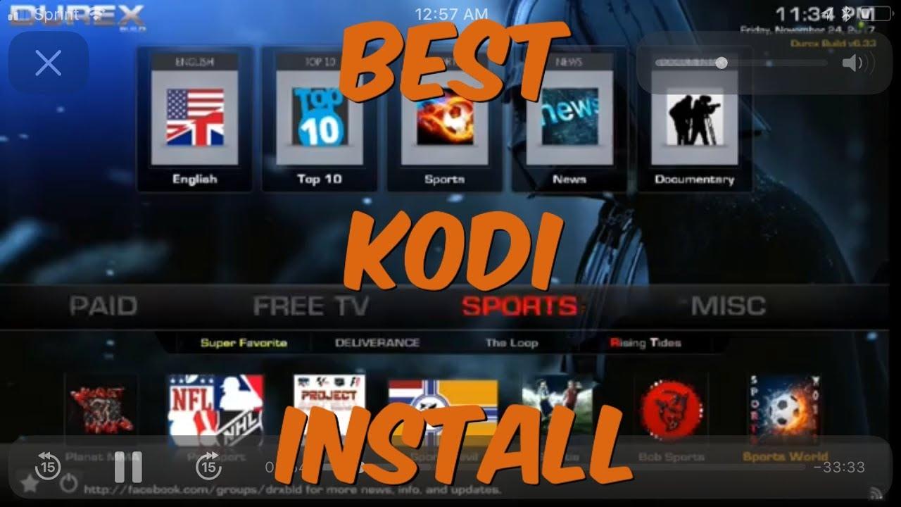 New Kodi   Build Usa November