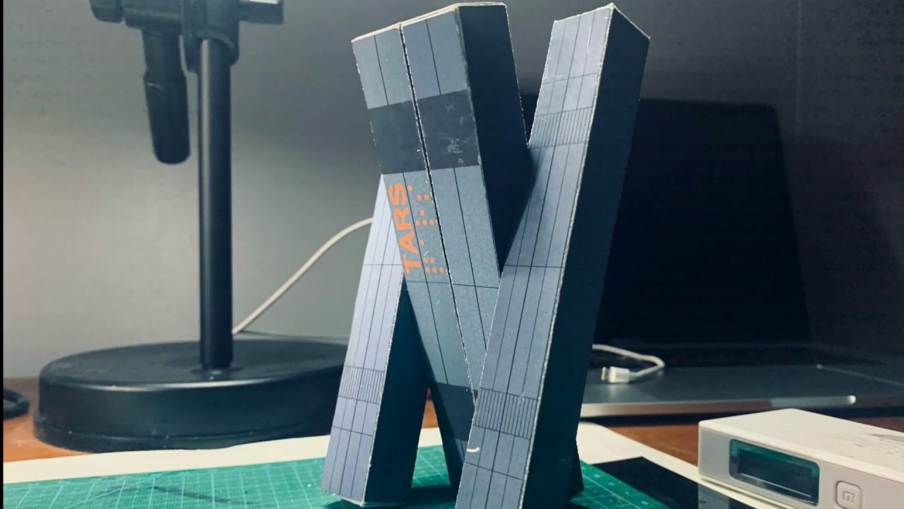 """用一张A4纸制作星际穿越里的""""TARS""""机器人模型"""