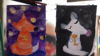 ЛИСЁНОК. Как рисовать. Рисуем с малышами. Рисуем с Илюшей