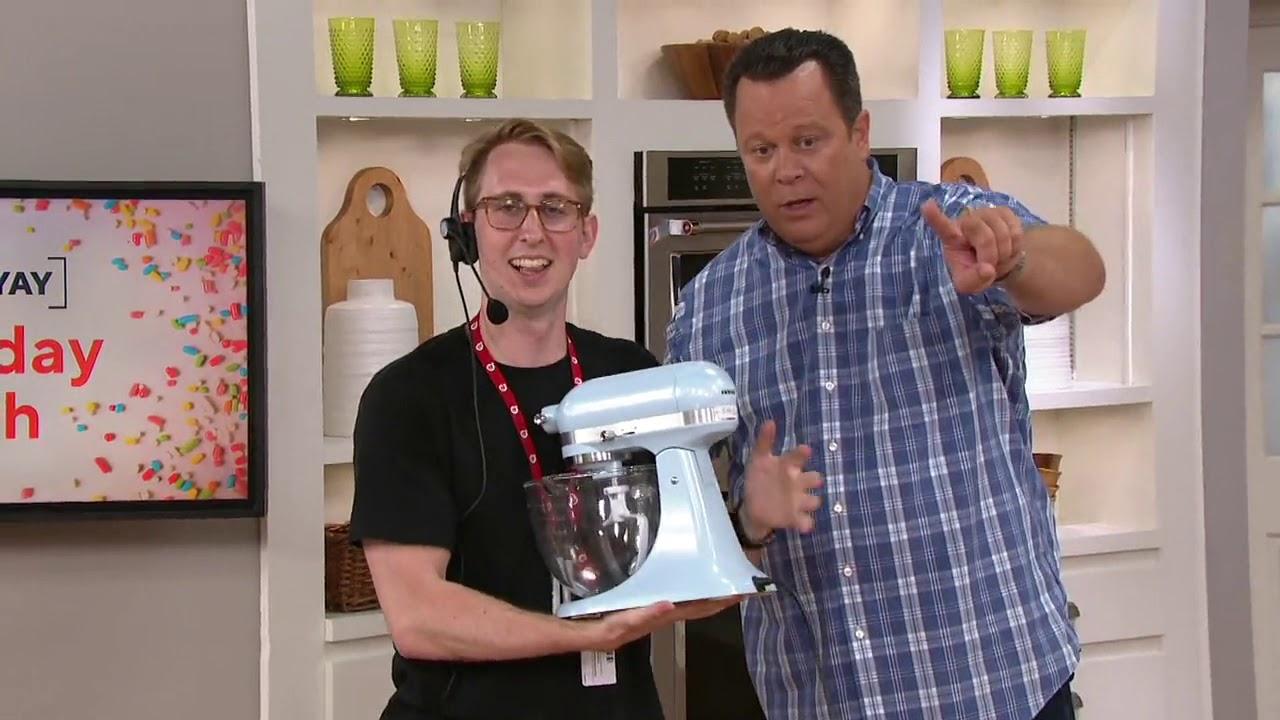 Kitchenaid 3 5 Qt Artisan Design Stand Mixer With Glass Bowl On Qvc Youtube