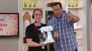 KitchenAid 3.5-qt Artisan Design Stand Mixer with Glass Bowl on QVC
