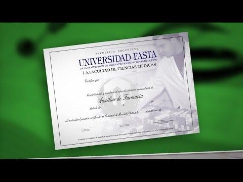 Curso de Auxiliar de Farmacia - Universidad FASTA