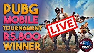 🔥PUBG MOBILE TOURNAMENT LIVE!!! | Join Now and Win 800 Rupee