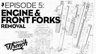 Saturday's Wrench Ep.05: Honda Cb350 Build - Engine & Front Fork Removal