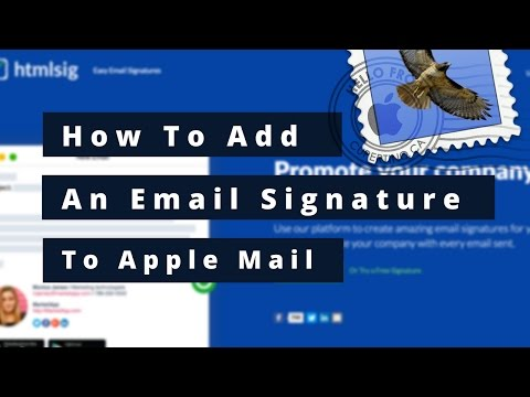 How to add a custom email signature to Apple Mail