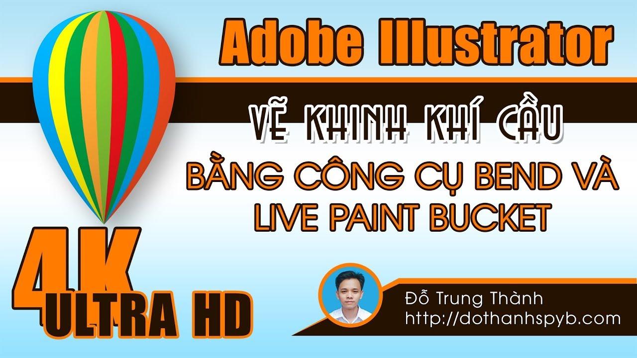 Adobe Illsutrator: Vẽ khinh khí cầu bằng công cụ Blend và Live Paint Bucket