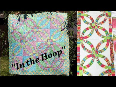 Wedding Rings Quilt Block Tutorial Made In The Hoop Youtube