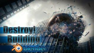 Destroy a Large City Building - Blender VFX Tutorial