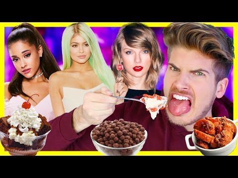 TRYING CELEBRITIES FAVORITE FOODS!