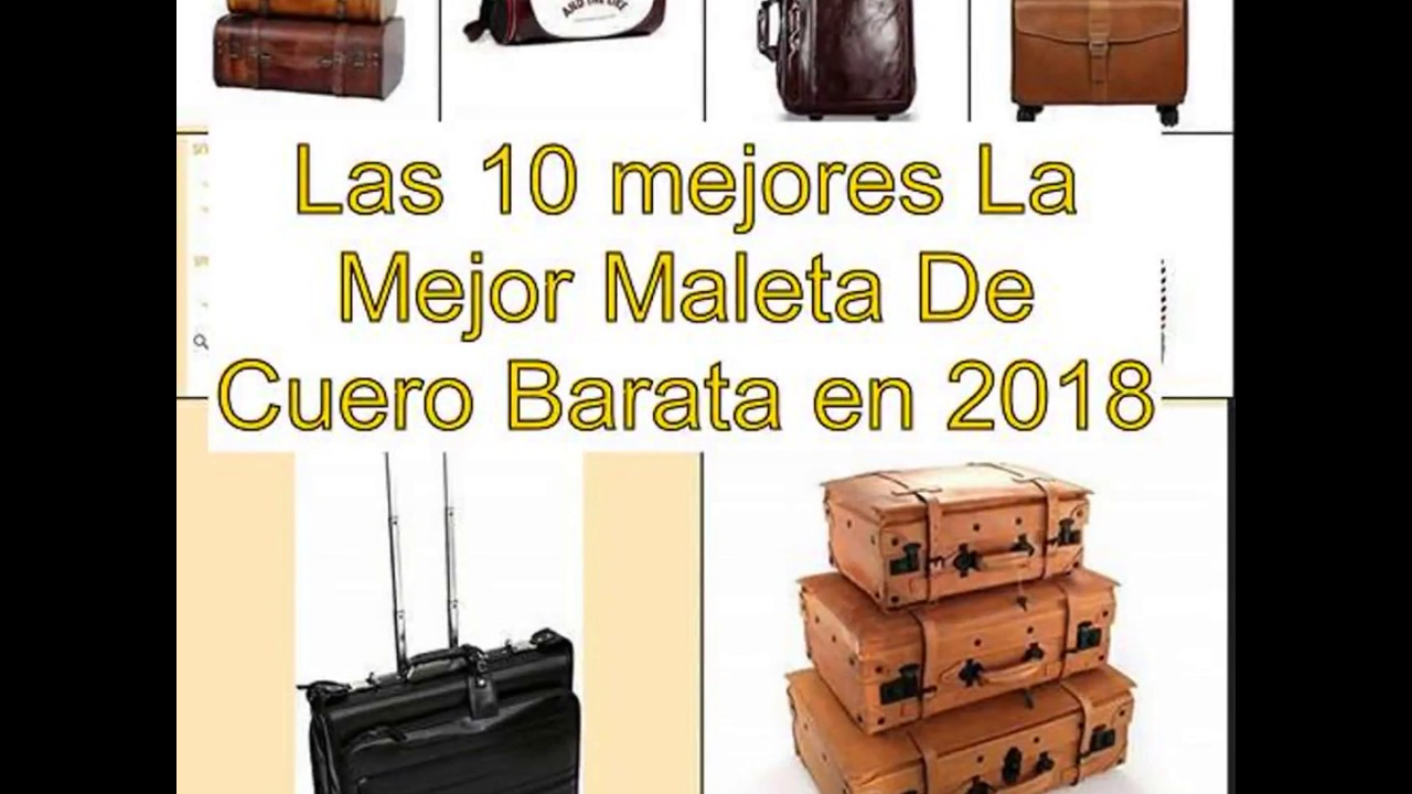 60be13d3c Las 10 mejores La Mejor Maleta De Cuero Barata en 2018 - YouTube