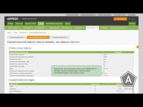 SEO-анализ текста в Адвего - инструкция по работе, расшифровка показателей