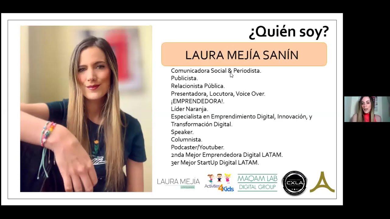 Semana del Conocimiento CXLA – Laura Mejía desde Colombia