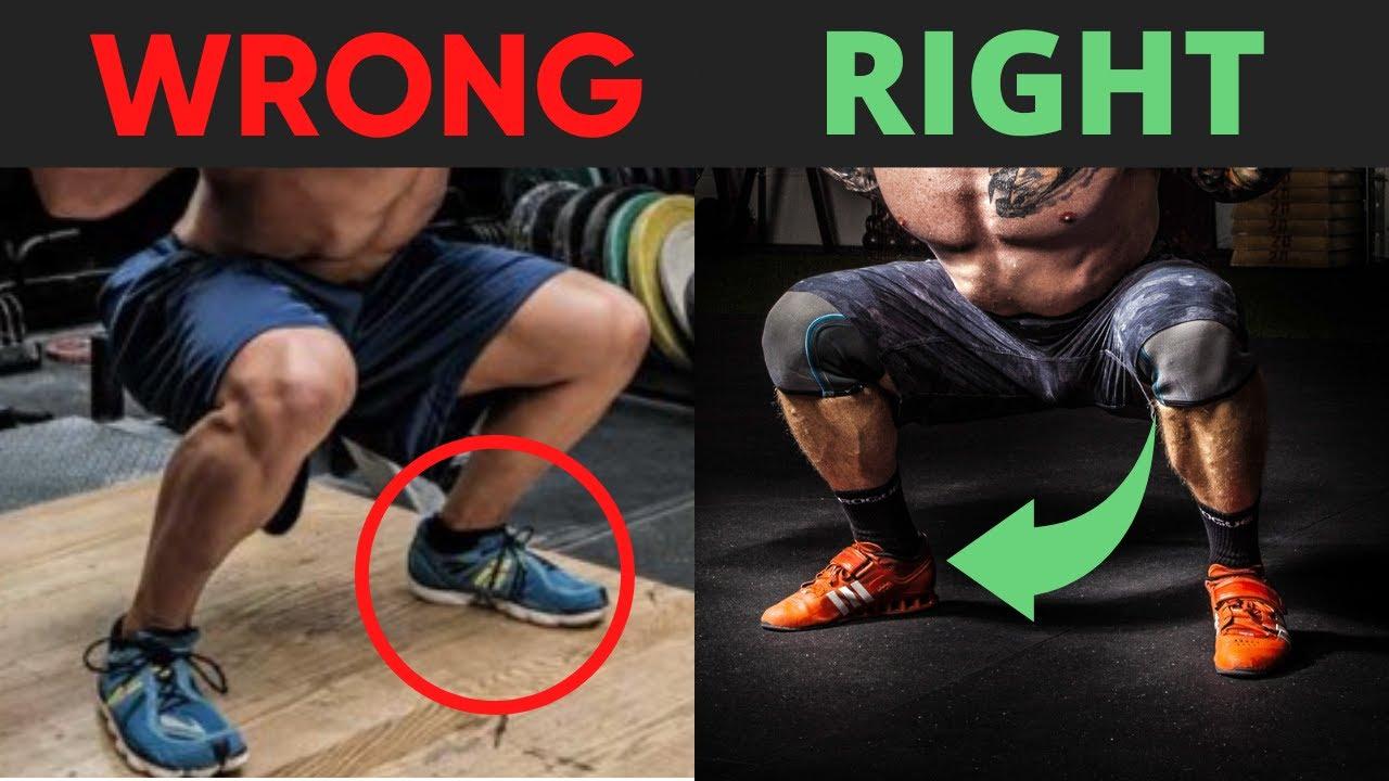 chọn giày khi squat