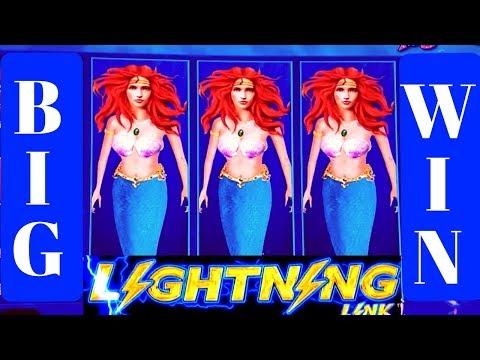 LIGHTING LINK Slot Machine BIG WIN/Free Games & Lighting Link Features WON ! 10cent Denomination