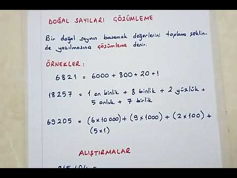 4 Sinif Matematik Dogal Sayilari Cozumleme Ve Karsilastirma