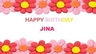 Jina   Birthday Postcards - Happy Birthday
