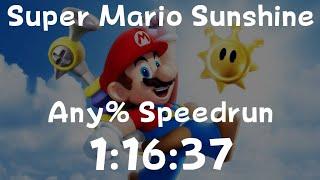 Super Mario Sunshine Any% Speedrun in 1:16:37