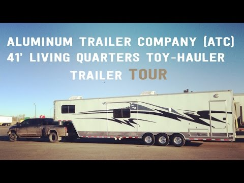 Aluminum Trailer Company (ATC) Living Quarters Toy Hauler Tour