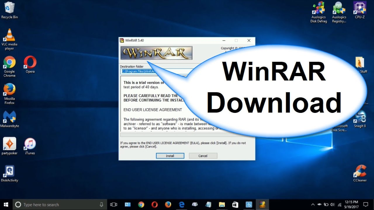 download free winrar for windows 10