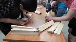 옥천장애인재활센터 목공체험  미니테이블 만들기