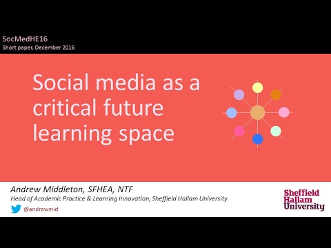 Social media as a critical future learning space