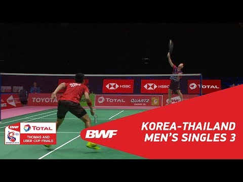 Thomas Cup | MS3 | HA Young Woon (KOR) vs Pannawit THONGNUAM