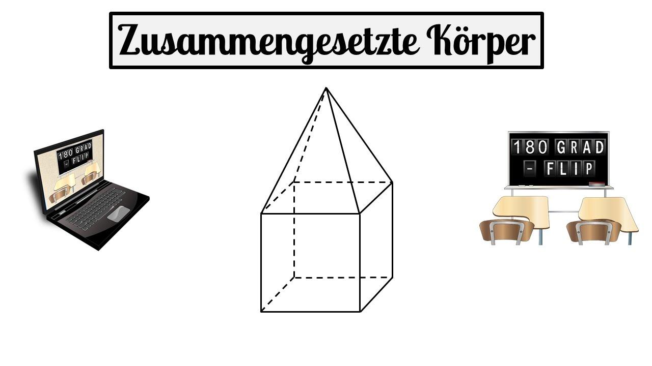 10 stereometrie - zusammengesetzte körper - quadratischen pyramide