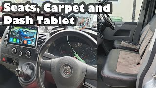 Installing the Carpet, Seats and Dash Tablet  VW Transporter T5 Campervan Conversion (Part 4)