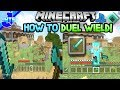 How To Duel Wield on Minecraft Legacy Edition - PS3/PS4/XBOX360/WIIU 2019! - Modding Tutorial!