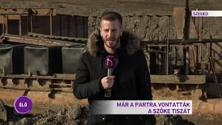 Már a partra vontatták a Szőke Tiszát