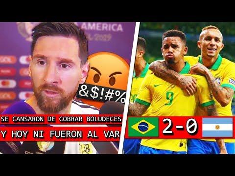 BRASIL gana con POLÉMICA + MESSI explotá contra el ARBITRO y el VAR + ARGENTINA afuera ?
