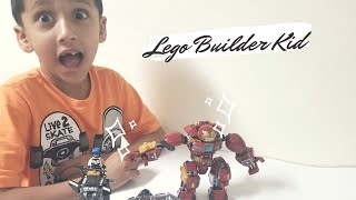Lego Hulkbuster Smash-up 76104 | Avengers Endgame |Youngest Lego Builder kid Kid Videos |Lego movies
