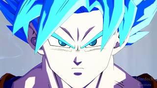 DRAGON BALL FIGHTERZ - BARDOCK VS GOKU BLUE (GAMEPLAY)