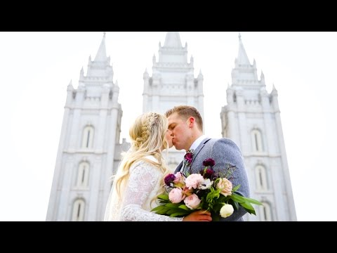 Salt Lake Temple Wedding // Markie + Michael Nakken