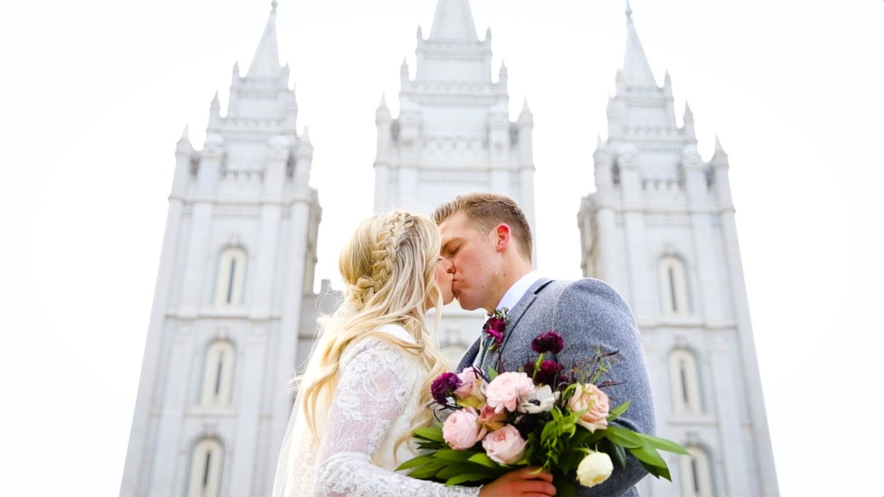 Salt Lake Temple Wedding  Markie  Michael Nakken  YouTube