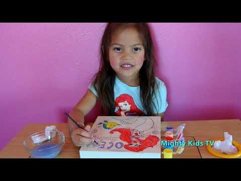 Kid Painting Princess Ariel | Amazing work | Disney's princess | Kids Art