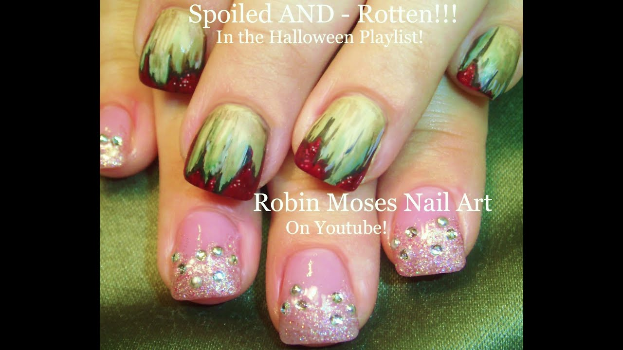 Spoiled And Rotten Nail Art Design Tutorial | Halloween nails DIY - Spoiled And Rotten Nail Art Design Tutorial Halloween Nails DIY