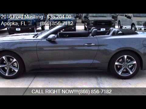 2016 ford mustang ecoboost premium 2dr convertible for sale youtube. Black Bedroom Furniture Sets. Home Design Ideas