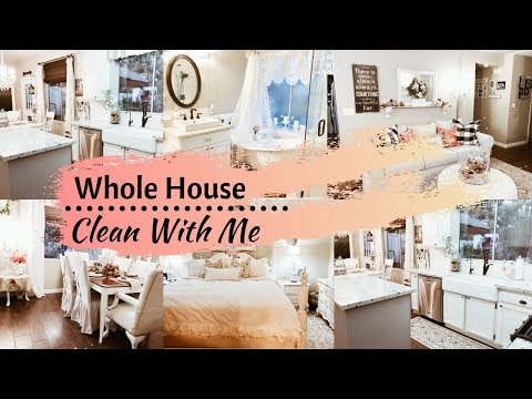 WHOLE HOUSE CLEAN WITH ME   CLEANING MOTIVATION 2019   EXTREME CLEANING ROUTINE