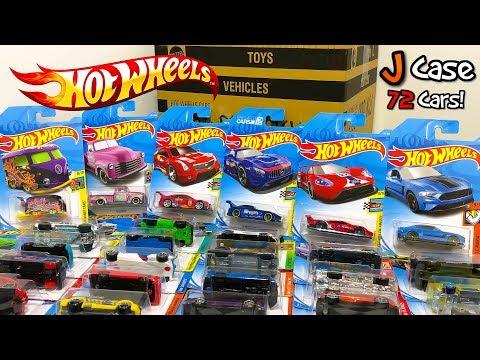 Unboxing Hot Wheels 2018 J Case 72 Car Assortment!