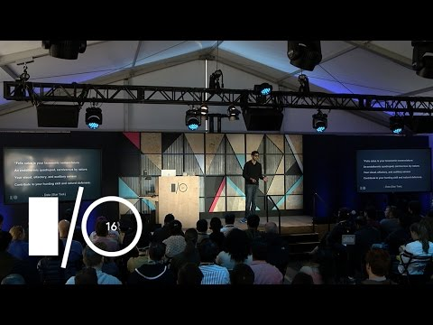Machine learning is not the future - Google I/O 2016