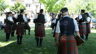 Chatham Kent Police Services Pipe Band G4 Kincardine 5 Jul 2014