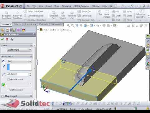 Custom Forming Tool In Solidworks Youtube