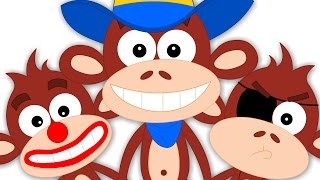 Kids TV Nursery Rhymes | Five Little Monkeys Jumping On The Bed |Rhymes Songs