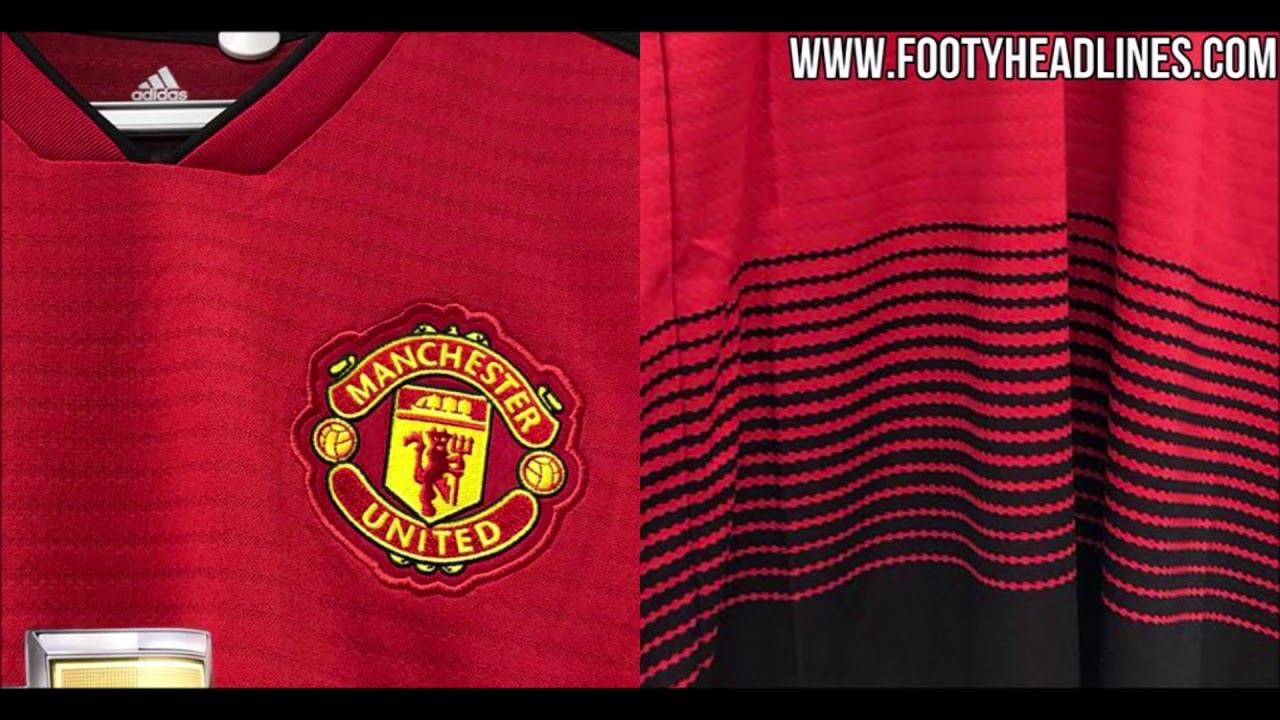 Manchester United 18-19 Home Kit Leaked - Images   FootyHeadlines ... bb647e1f3